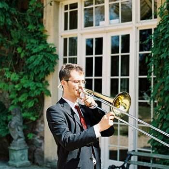 La música estuvo mu presente en esta boda.
