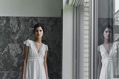 Suknie ślubne Laure de Sagazan 2018: niespotykane dla nowoczesnych kobiet