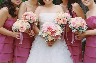 Encantada boda en un florido jardín en Los Angeles, California