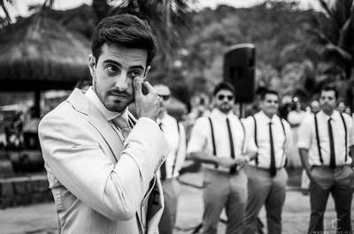 Quando o noivo vê a noiva pela primeira vez: cliques emocionantes!