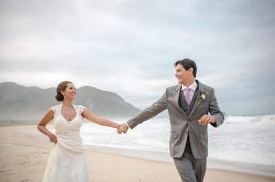 Casamento rústico chic na praia de Thais & Nuno: repleto de amor, força e sonhos!