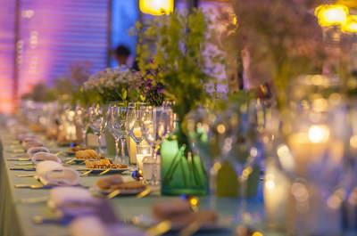 Iluminación romántica para la boda