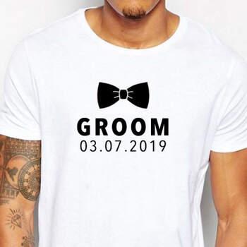 Camiseta Groom Con Fecha Personalizada- Compra en The Wedding Shop
