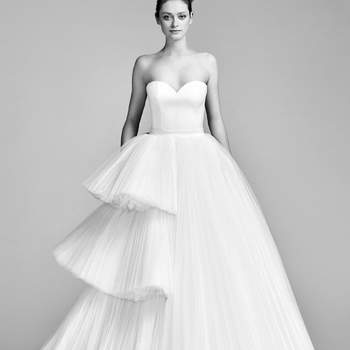 Asymetric Tiered Tulle Gown. Credits- Viktor and Rolf.