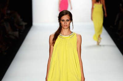 A model walks the runway at the Laurel Show during the Mercedes-Benz Fashion Week Spring/Summer 2013 on July 5, 2012 in Berlin, Germany.
