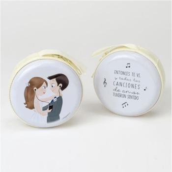 Porte-monnaie mariés avec fermeture éclair - The Wedding shop !