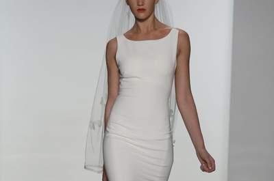 Simplicidad que irradia encanto: Vestidos de novia 2015 de Amsale