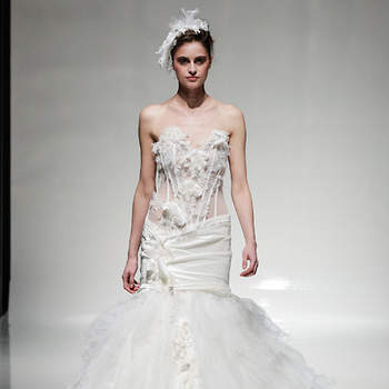 Dress by Anna Romysh Haute Couture. Image: Christopher Dadey for White Gallery London