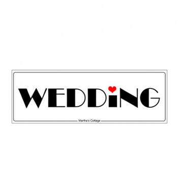 Matricula coche boda amor - Compra en The Wedding Shop