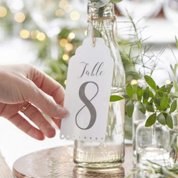 Seating Plan blanco boda 12 unidades- Compra en The Wedding Shop