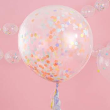 Maxi globos pastel coriandolos 3 Unidades- Compra en The Wedding Shop