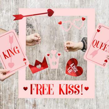 Photobooth kiss love- Compra en The Wedding Shop