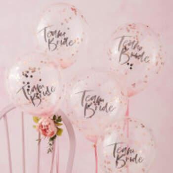 Ballons Team Bride Floral 5 Pièces - The Wedding Shop !