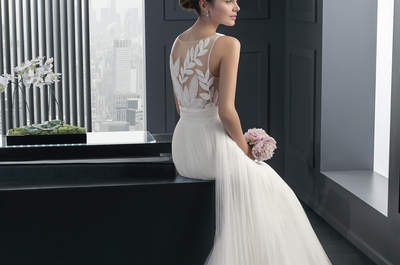 Do you dare to bare with a tattoo effect bridal gown?