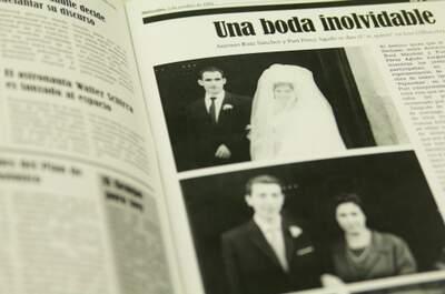 El periódico de tu boda: el mejor regalo para tus padres en tu gran día