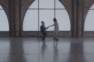 Magic Proposal at Photoshoot