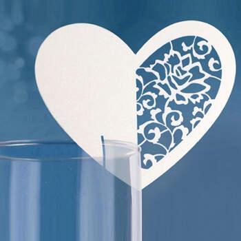 Marcasitio papel corazón blanco 10 unidades  - Compra en The Wedding Shop