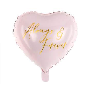 Globo siempre y para siempre corazón rosa- Compra en The Wedding Shop