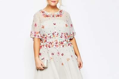25 robes pour invitées rondes : trouvez le style parfait pour un mariage au printemps !