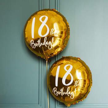 Globo 18 años oro- Compra en The Wedding Shop