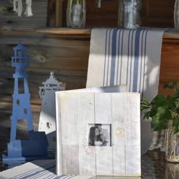 Livre D'or En Faux Bois Avec Photo - The Wedding Shop !