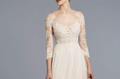 Vestidos de novia con encaje. ¡El tejido nupcial de la próxima temporada!