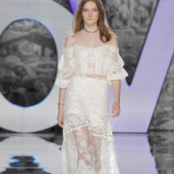 Свадебные платья со спущенными плечами: элегантность и женственность