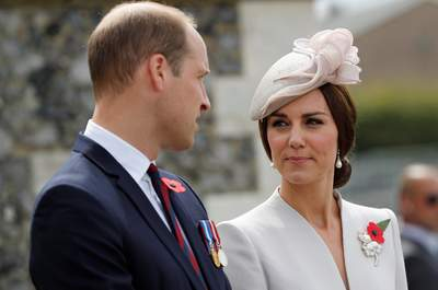 The Duke and Duchess of Cambridge arrive at the Tyne Cot Commonwealth War Graves Cemetery in Ypres, Belgium, for commemorations to mark the centenary of Passchendaele.