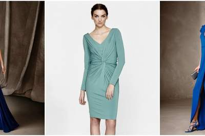 Robes de soirée bleues 2017 : une invitée de mariage glamour