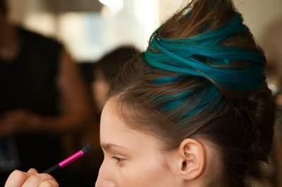 Look pour un mariage : les extensions de cheveux colorées