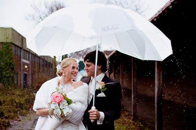 Casarse en un día de lluvia: cuatro consejos para sacar el mejor partido a tu matrimonio