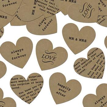 Confeti corazones vintage. Compra en The Wedding Shop.