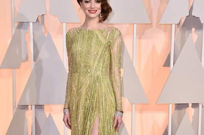 Les tendances des tapis rouges: les plus belles robes colorées des Oscar 2015.