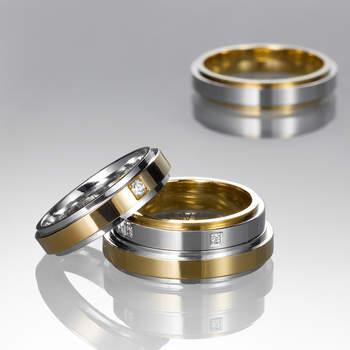 """La combinación de dos tonos de oro en las alianzas está muy de moda. Foto: <a title=""""Germán Joyero"""" href=""""http://germanjoyero.com/"""" target=""""_blank"""">Germanjoyero.com</a>"""