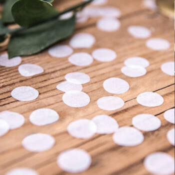Confetin blanco