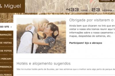 Será que devíamos ter um site de casamento?