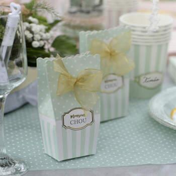 Cajas para candy bar menta 6 unidades- Compra en The Wedding Shop