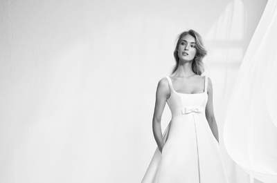 Abiti da sposa con scollatura quadrata: la perfezione prende il nome della semplicità
