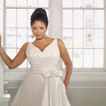 Un modello di Mori Lee per la sposa formosa