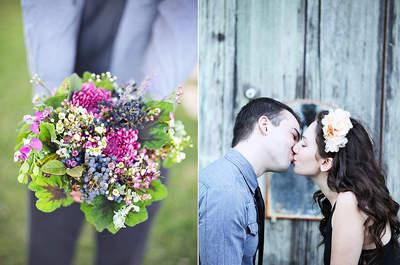 Bouquets colorés pour mariées modernes et tendances