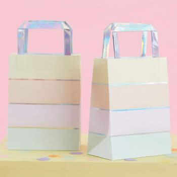 Bolsas pastel para fiestas 5 unidades- Compra en The Wedding Shop