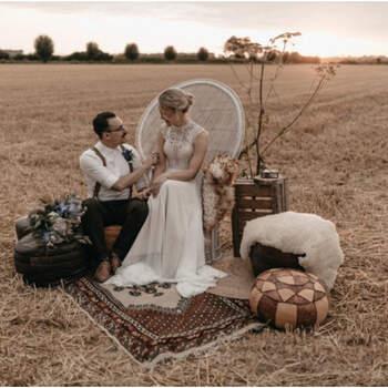 Bohemian styled wedding shoot met een touch of blue! | Foto: Renske Zwaan