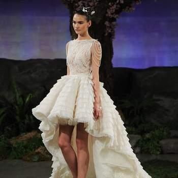 f18b2719 Vestidos de novia cortos por delante y largos por detrás: arriesga y ...