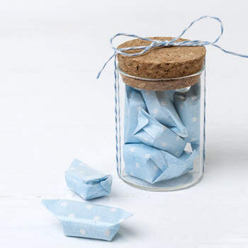 Recipiente Vidrio Con Caramelos Azules 12 Unidades - Compra en The Wedding Shop