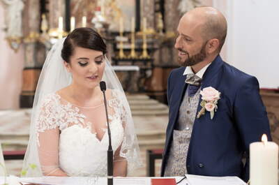 Die traumhafte Hochzeit von Samanta und Christoph in zarten Pastell-Tönen