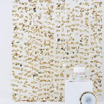 Rideau À Fleurs Doré - The Wedding Shop !