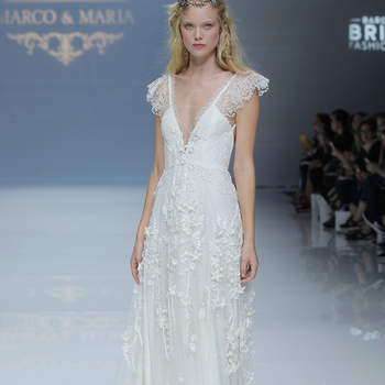 Marco & Maria. Credits: Barcelona Bridal Fashion Week.