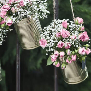 Latas Decorativas Para Flores y Dulces- Compra en The Wedding Shop