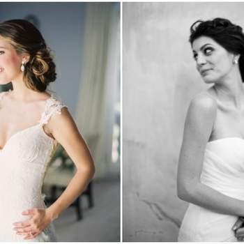 O decote coração estilo Odette é o mais simples e o melhor para favorecer o busto das noivas, uma aposta clássica atemporal. Foto: Andrew Cebulka & Joseba Sandoval