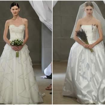 Vestidos de novia con estampados en la falta
